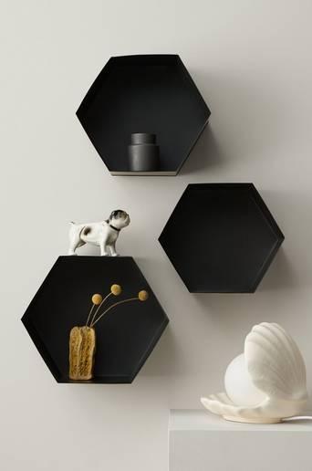 Hexagon seinähyllyt, 3 kpl