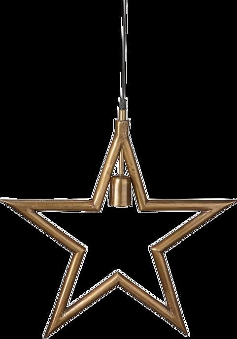 Julstjärna råmetall ø 60 cm