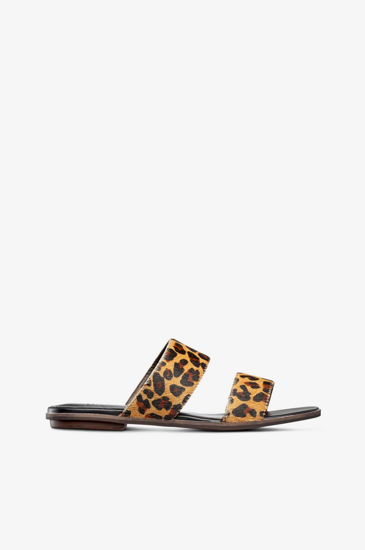 Leopardikuvioiset Natalia-sandaalit, pistokasmalli