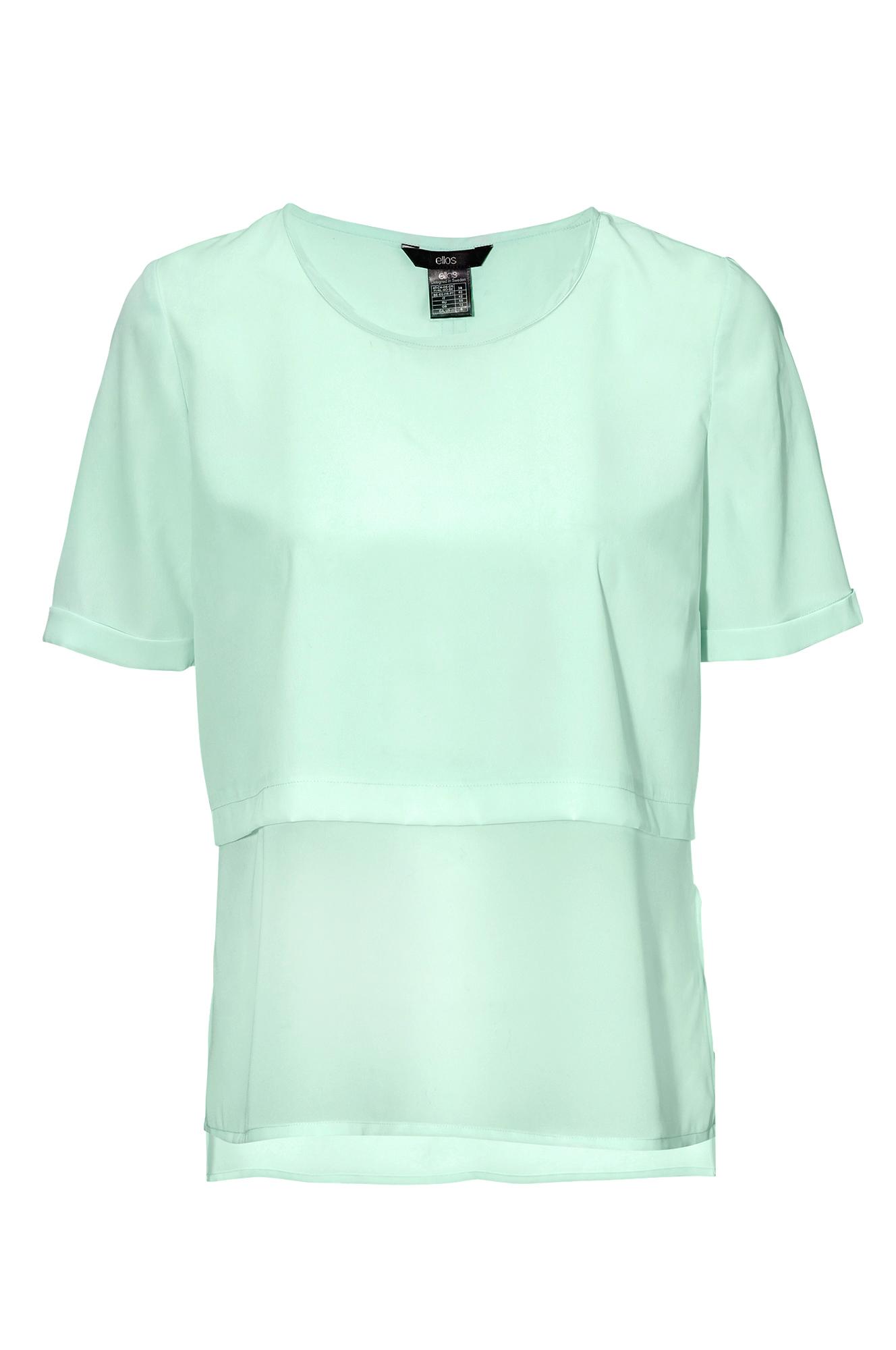 Chiffon gjennomsiktig sjøgrønn bluse | FINN.no