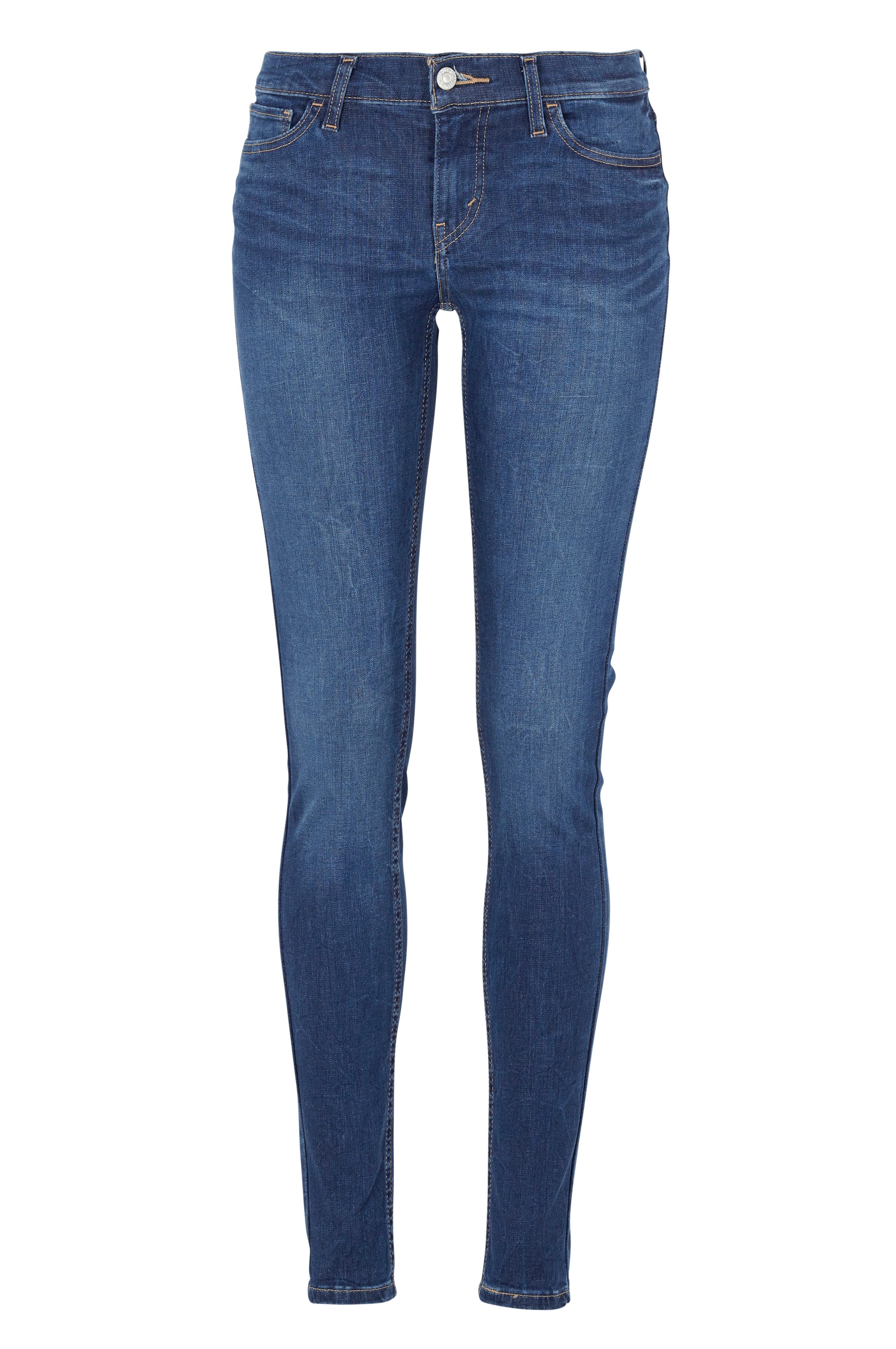 levi 39 s jeans 710 super skinny fit bl dame. Black Bedroom Furniture Sets. Home Design Ideas