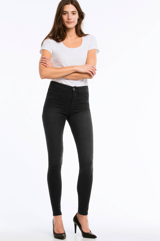 35e7778de52 Shop Jeggings Gunnel med høj talje Ellos Jeans i Sort denim til Kvinder på  internettet