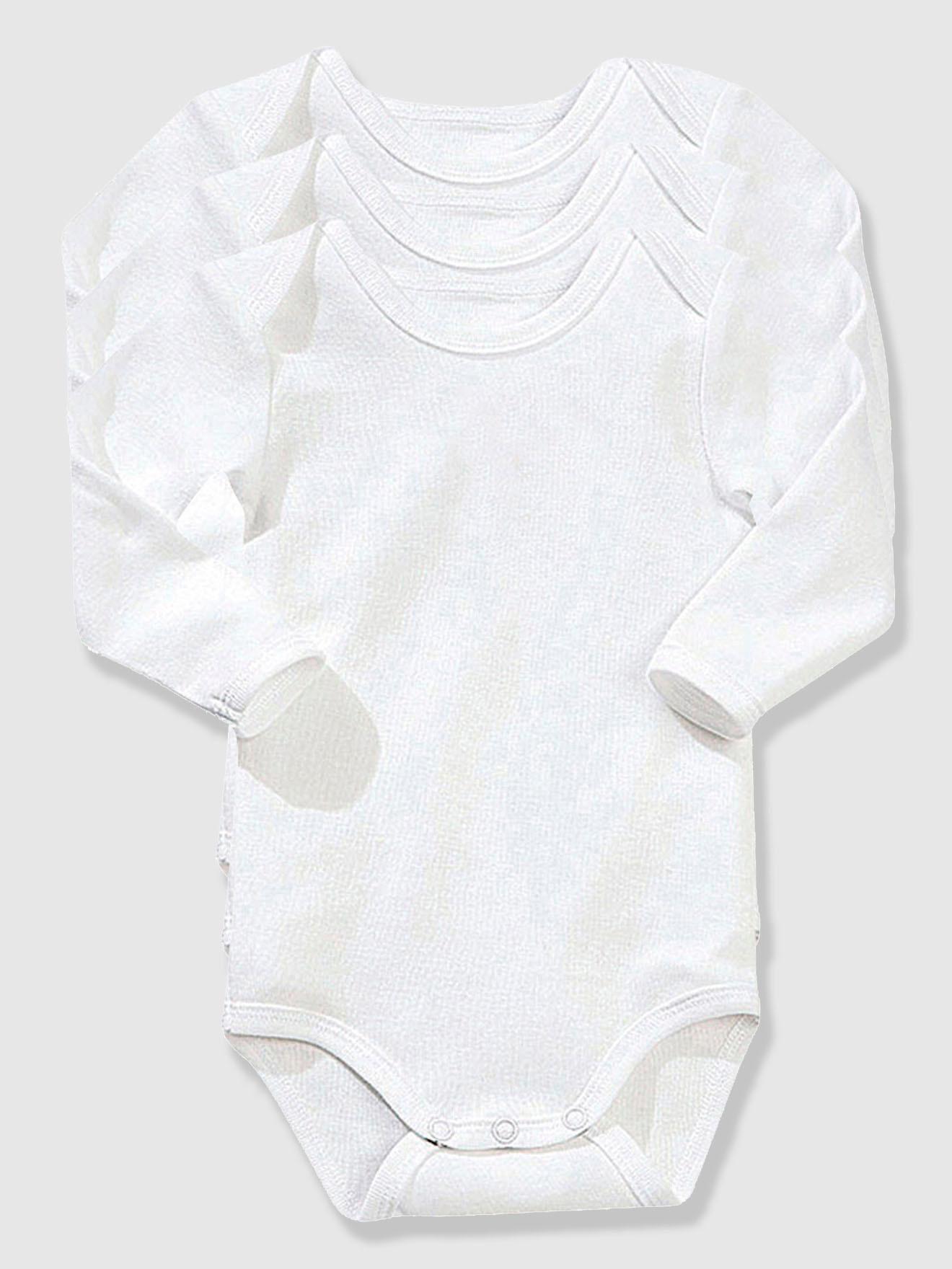 Body – 3-pak Vertbaudet Babybodyer & heldragter til Børn i Hvid