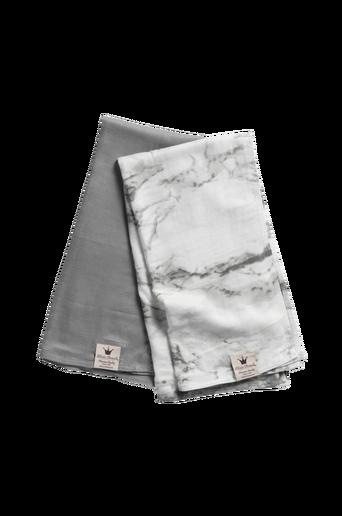 Bamboo Muslin -torkkupeitto - Marble Grey