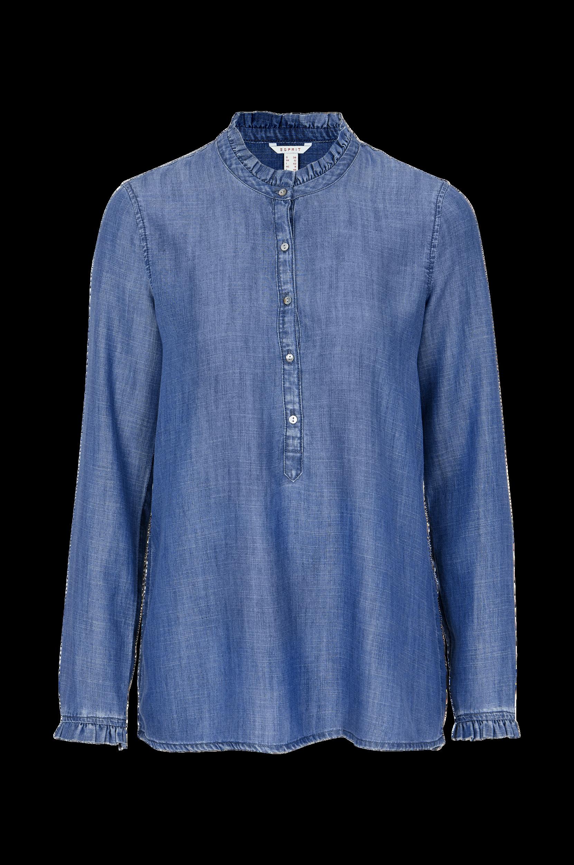 Bluse i denim Esprit Skjorter & bluser til Kvinder i Blå