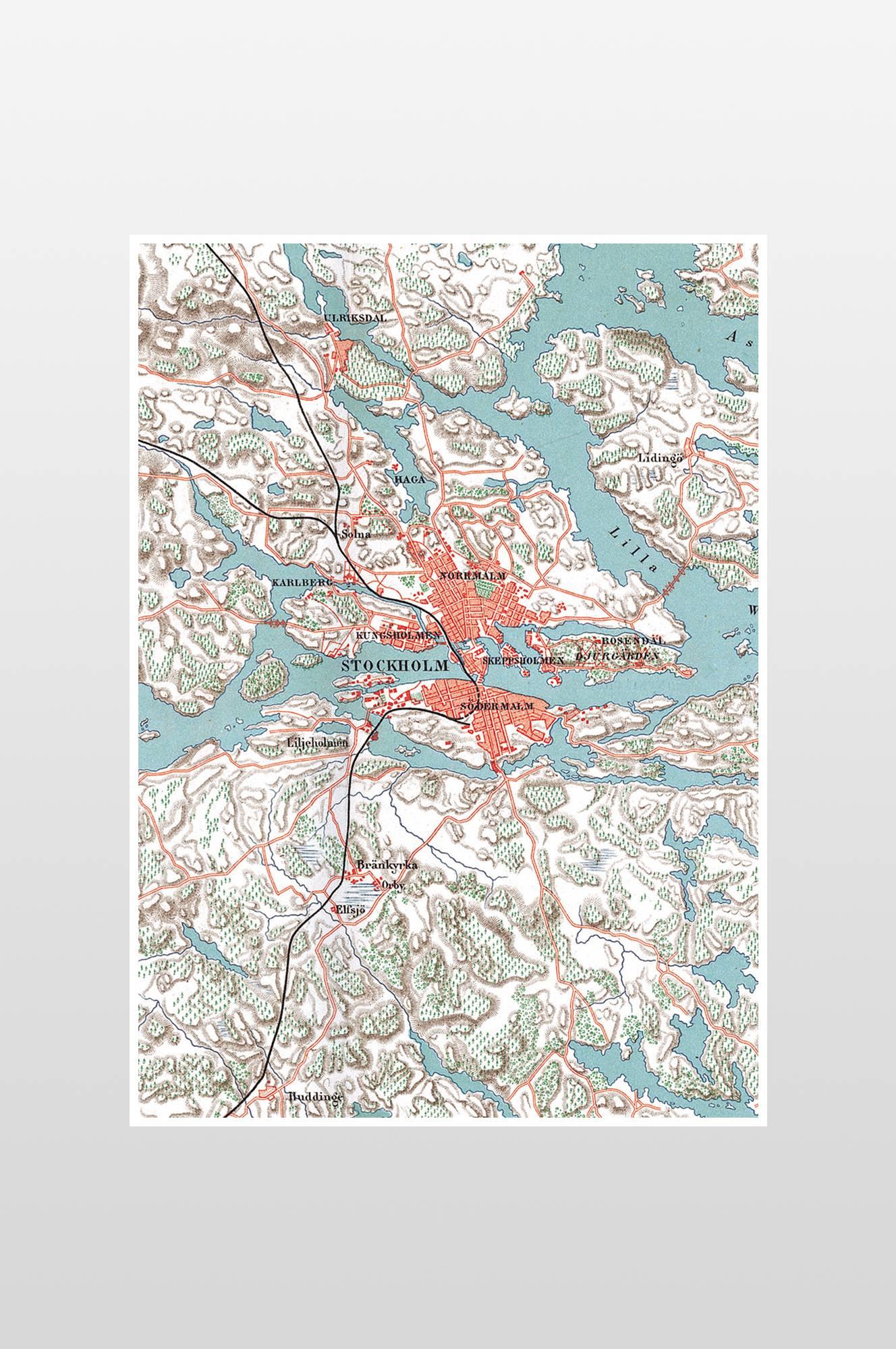 Stockholm-juliste 50x70 cm