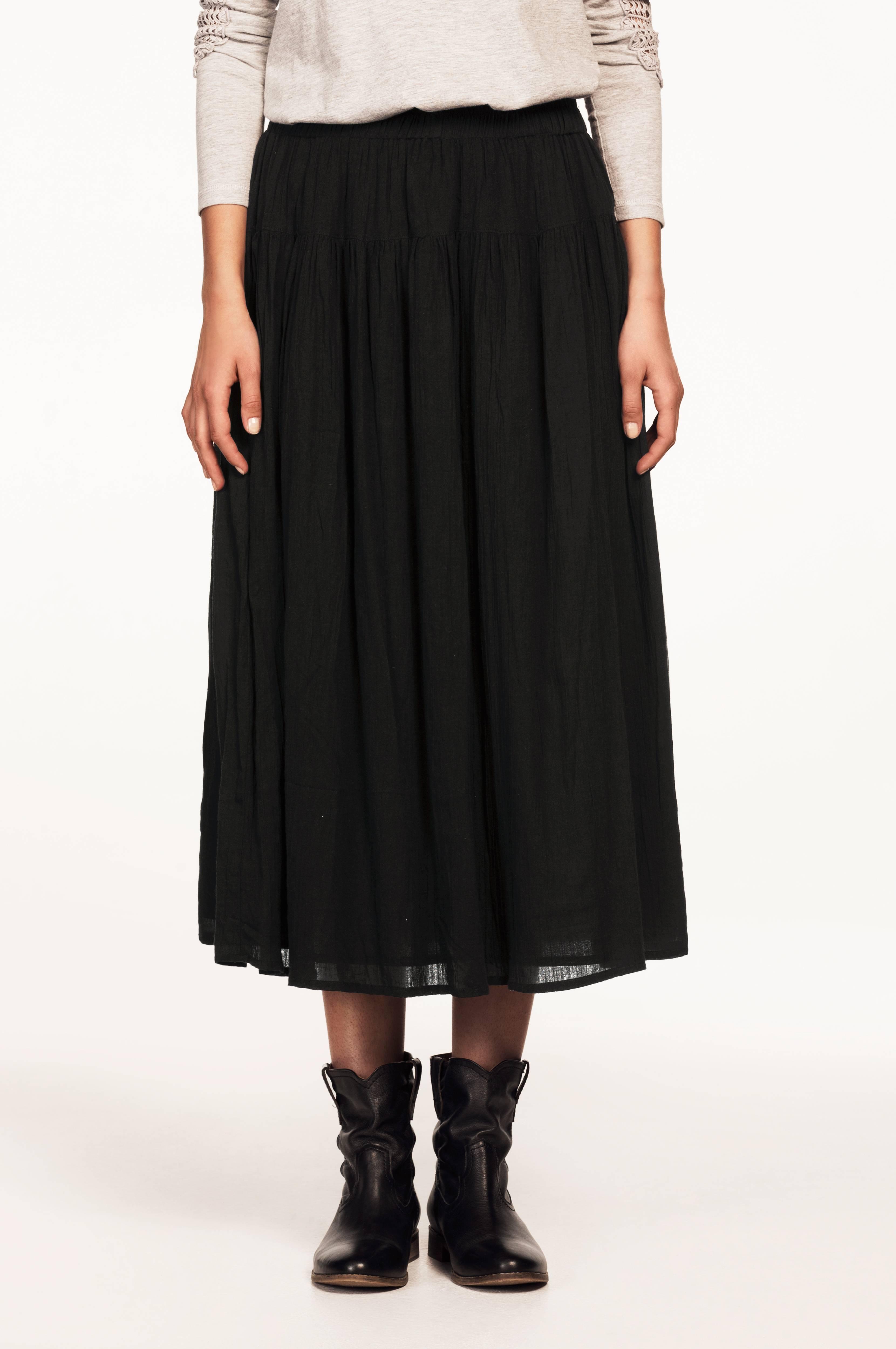 Ellos Collection Nederdel med skøn vidde Sort Dame