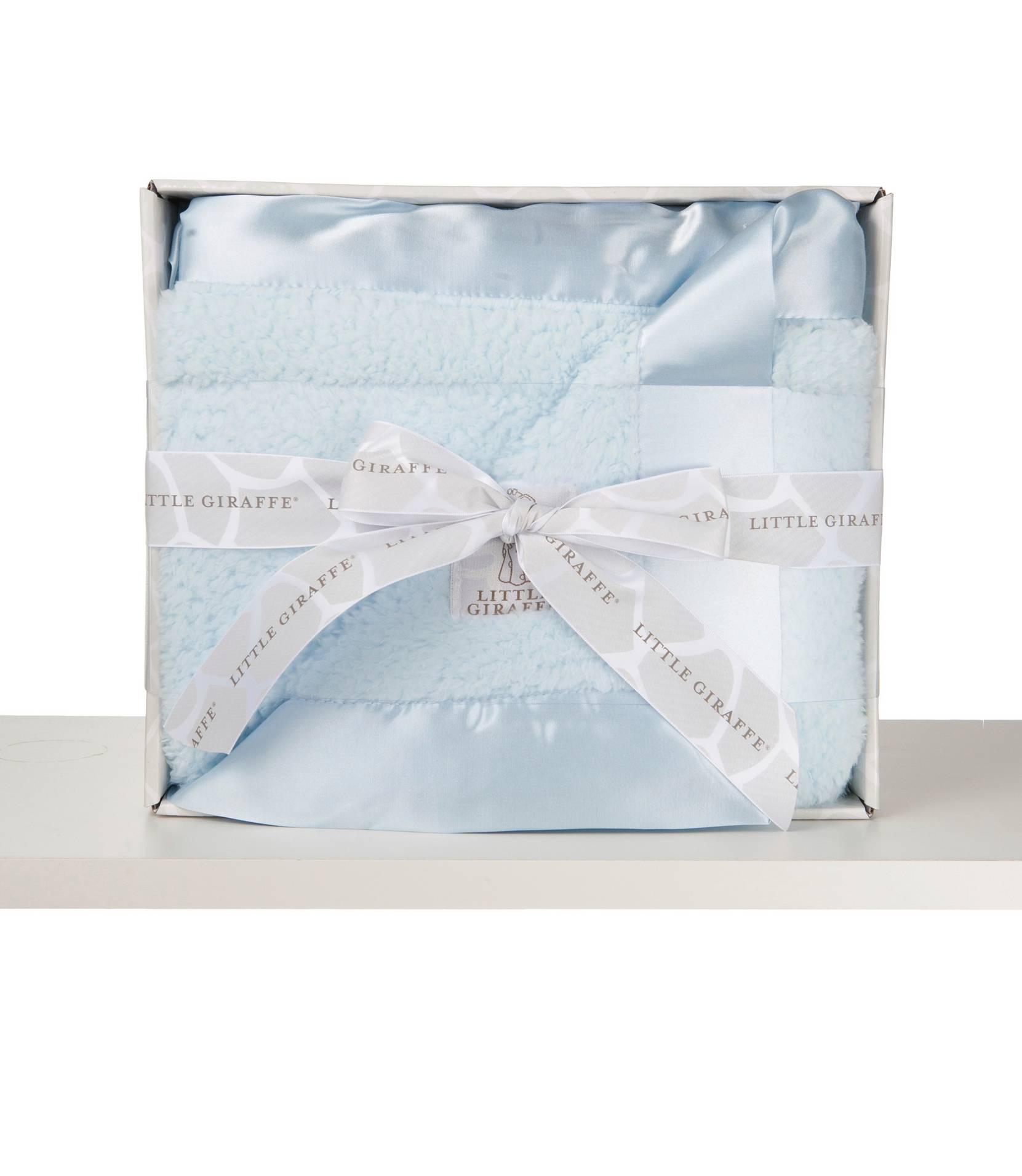 Bella-vauvanpeitto lahjapakkauksessa, sininen