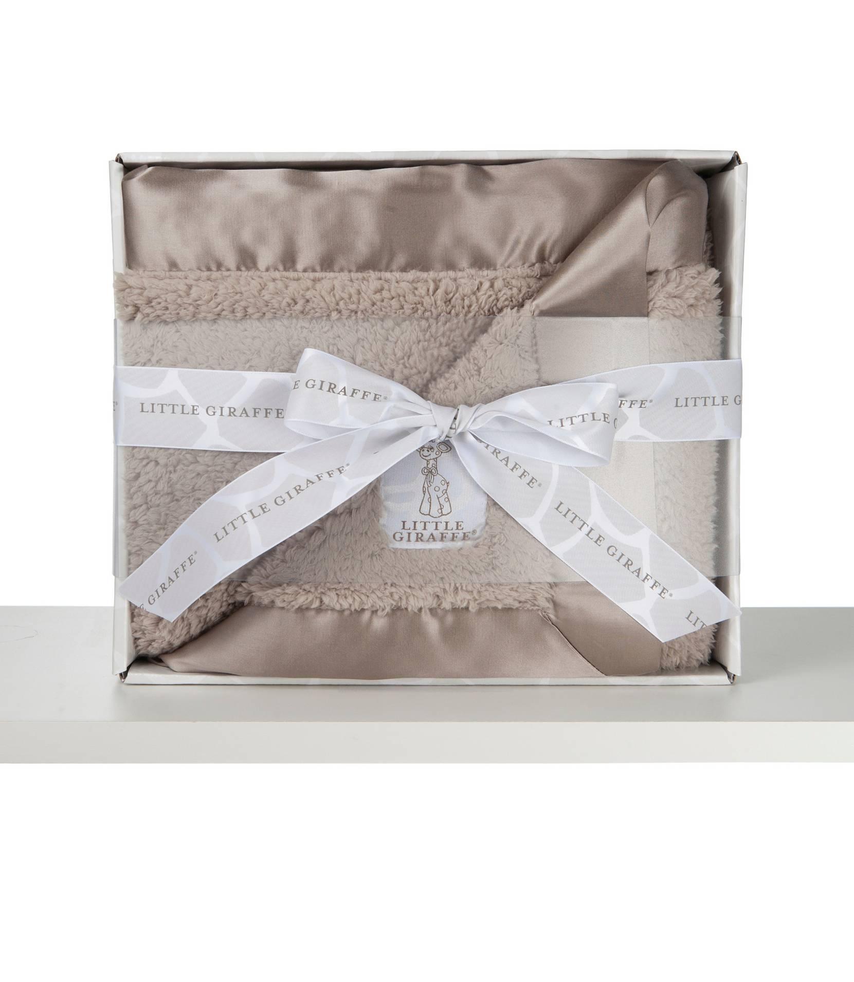 Bella-vauvanpeitto lahjapakkauksessa, beige