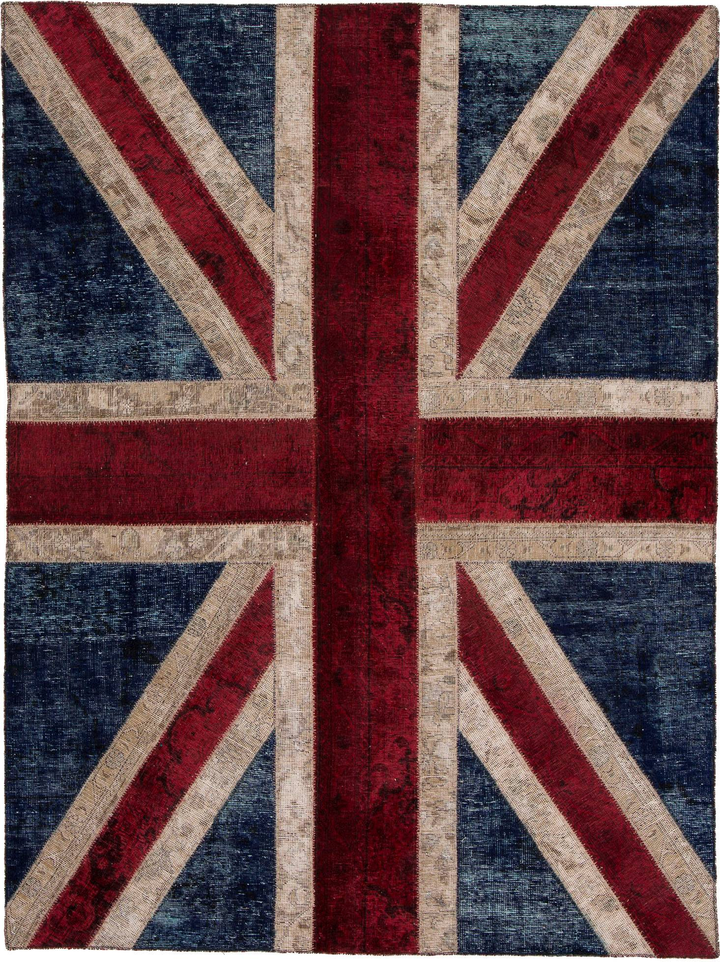 Patchwork Union Jack -matto n. 140x200