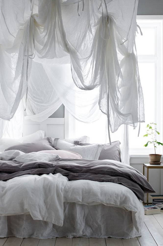 Sänghimmel Blanca