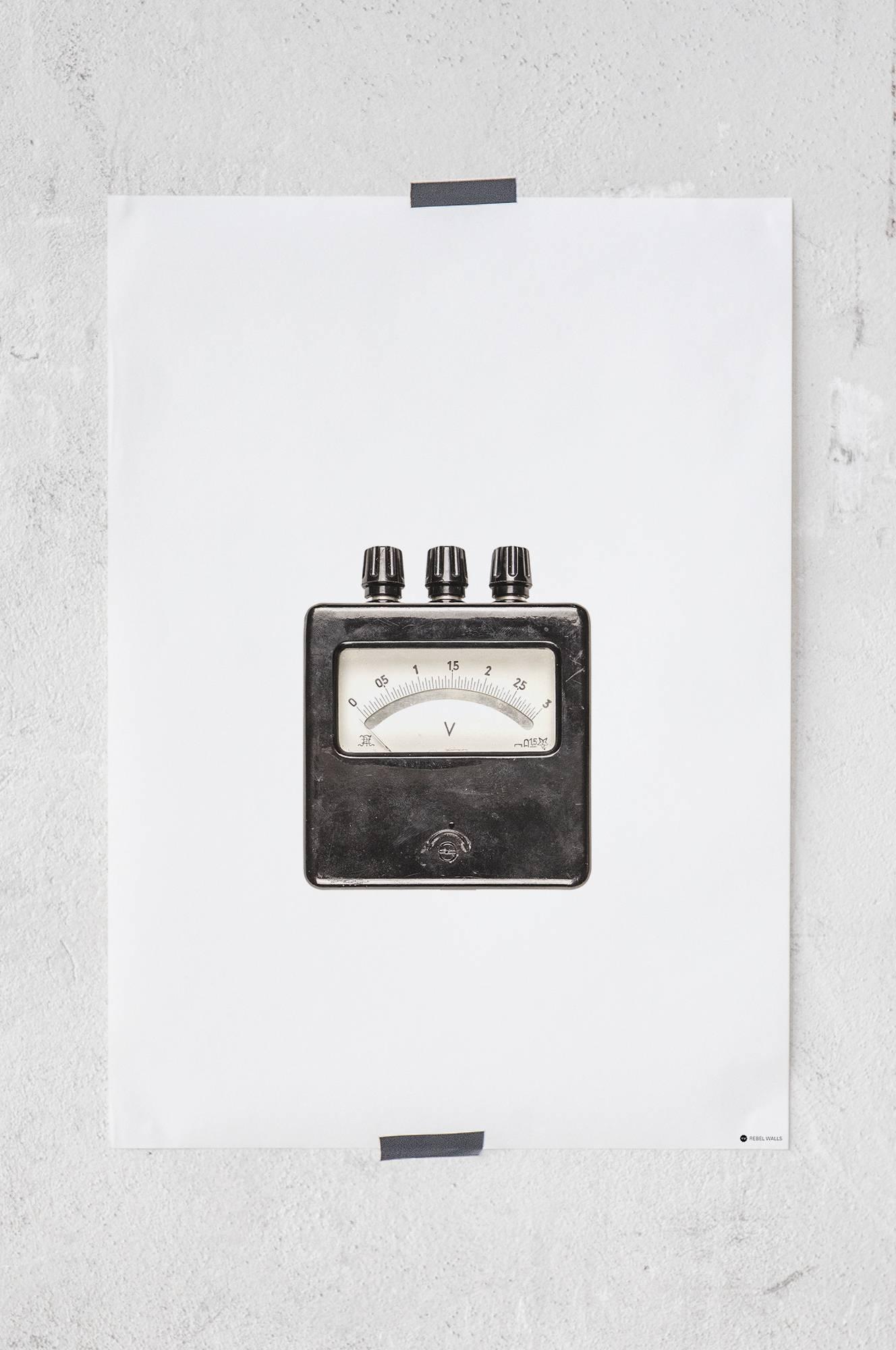 Ghost Voltmeter -juliste 50x70 cm