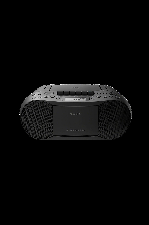 CFD-S70 Boombox, jossa CD-/kasettisoitin ja radio, musta