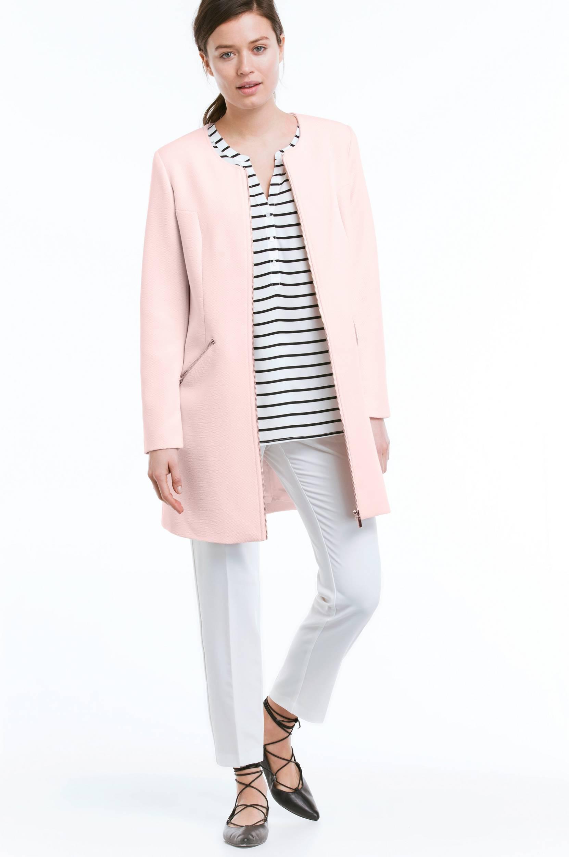 Frakke med lynlås Ellos Jakker & frakker til Kvinder i Lys rosa