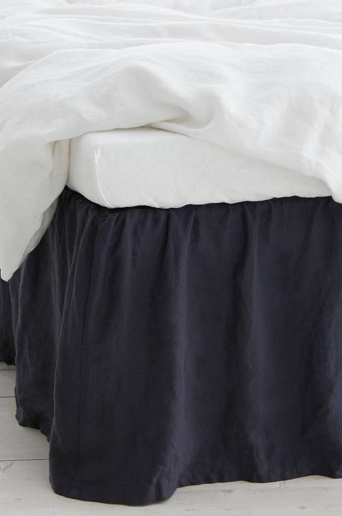 Sängkappa Candice i tvättat lin
