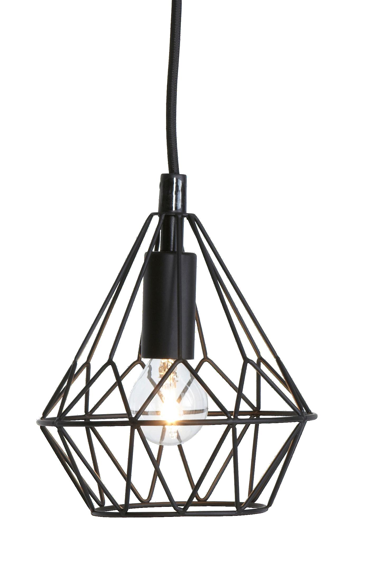 Ellos Home Vinduslampe Diamant Svart Hjem& innredning