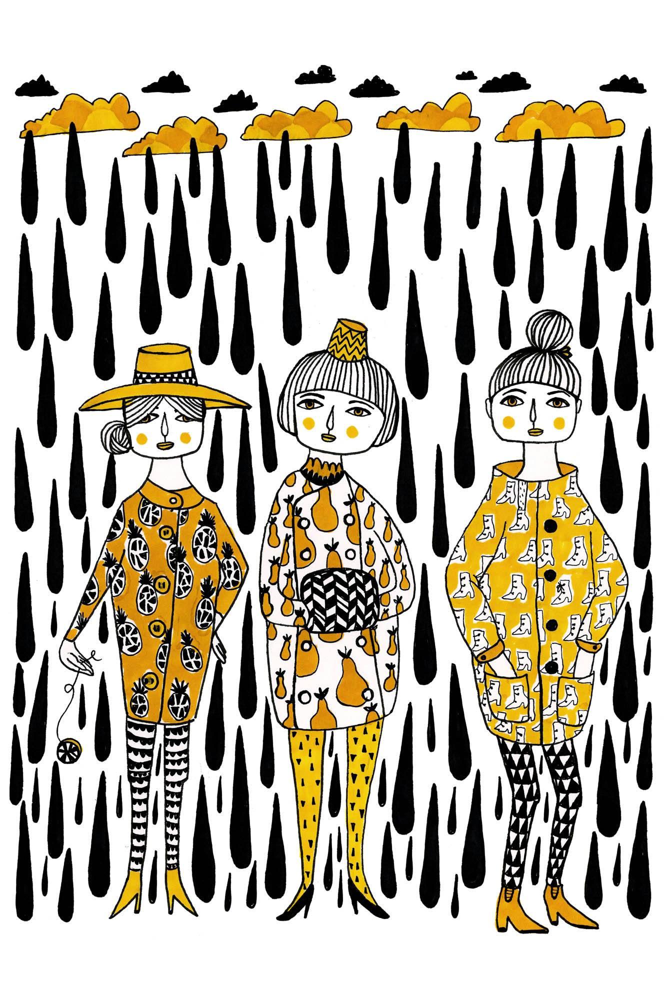 Svart Regn -juliste, A4