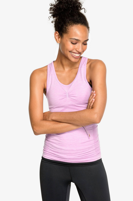 Yogatop Mountain Sense of Karma Træningstoppe til Kvinder i Lys rosa