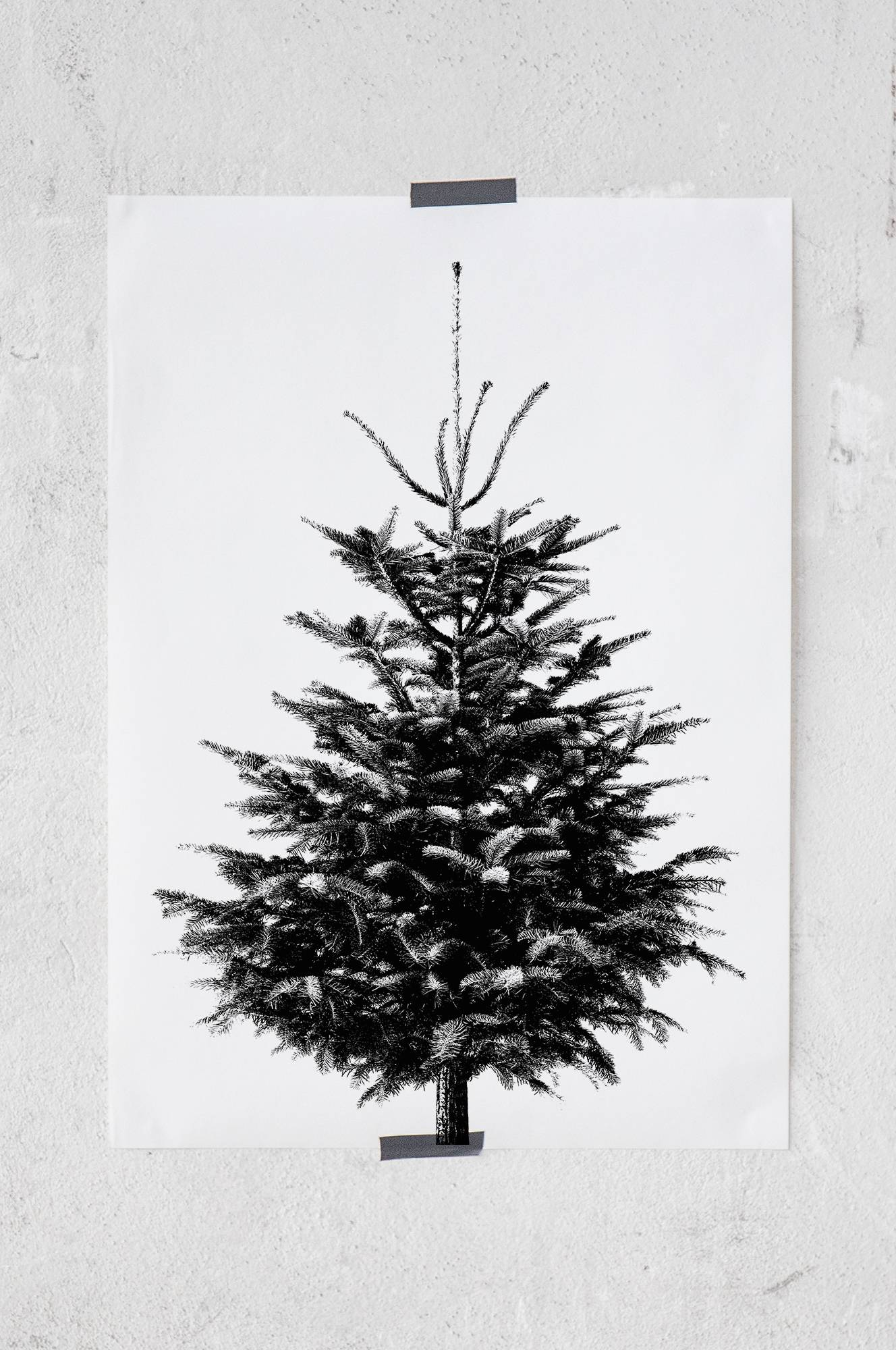 Christmas tree -juliste 50x70 cm