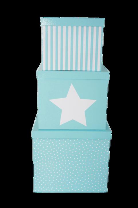 Förvaringslåda Blå 3-Pack