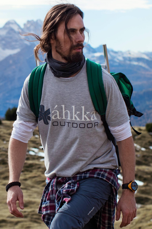 T-shirt Gallagas M Tee Áhkká T-shirts & tanktoppe til Mænd i Gråmeleret