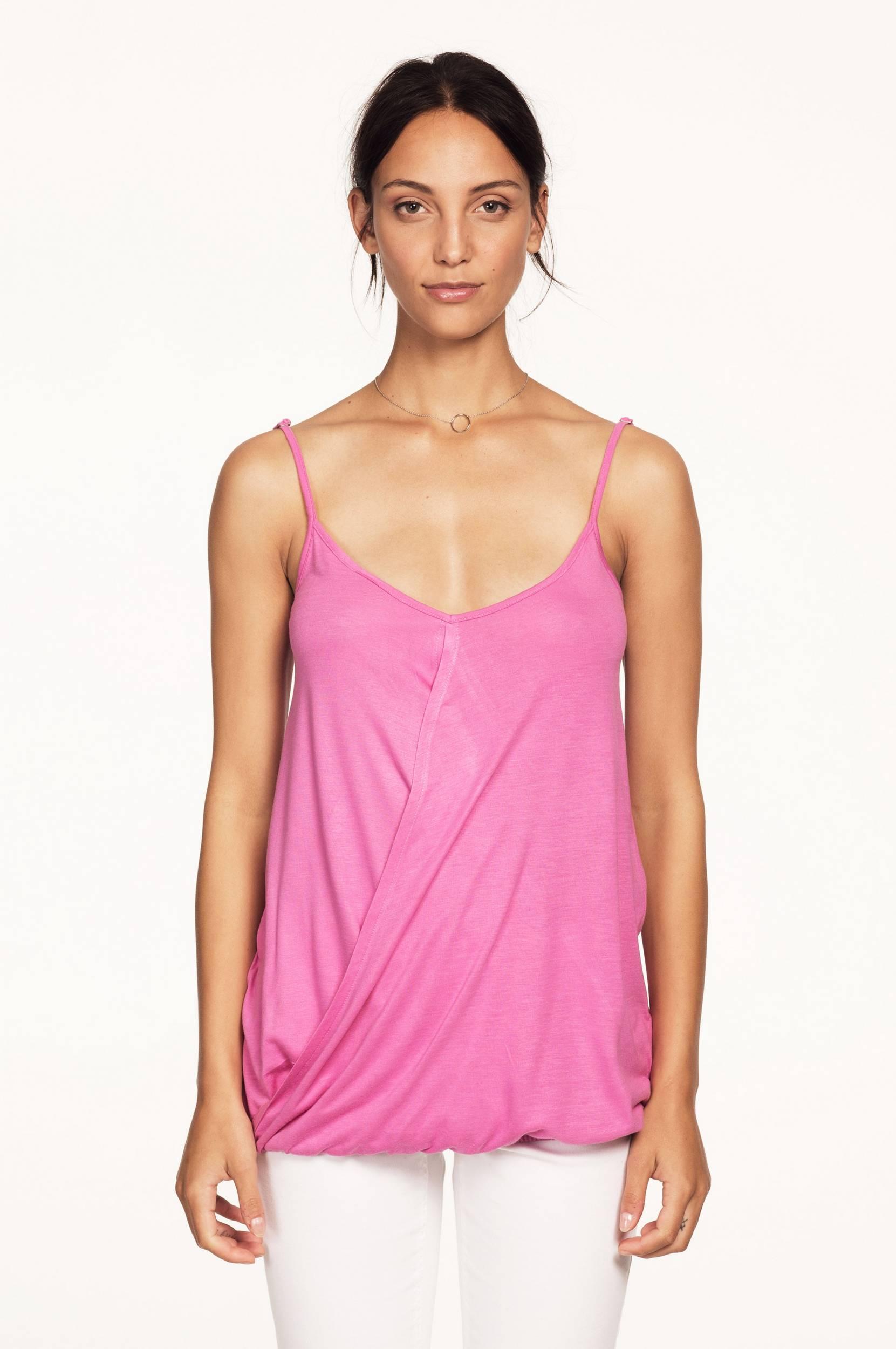 Stroptop med drapering Ellos Toppe & tank-toppe til Kvinder i Stærk rosa