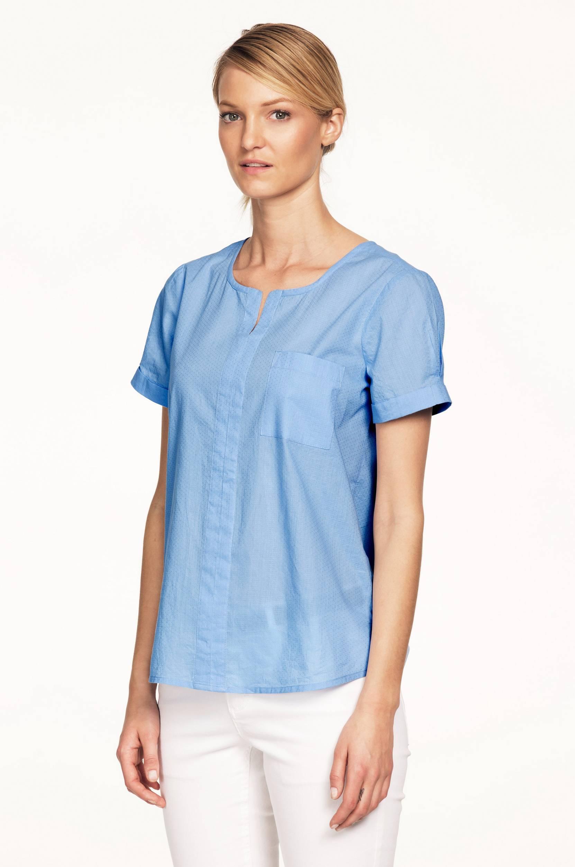 Bluse med kort ærme Ellos Skjorter & bluser til Kvinder i Himmelblå