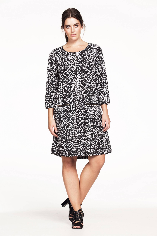 Kjole mønstret Ellos Kjoler til Kvinder i Sortmønstret