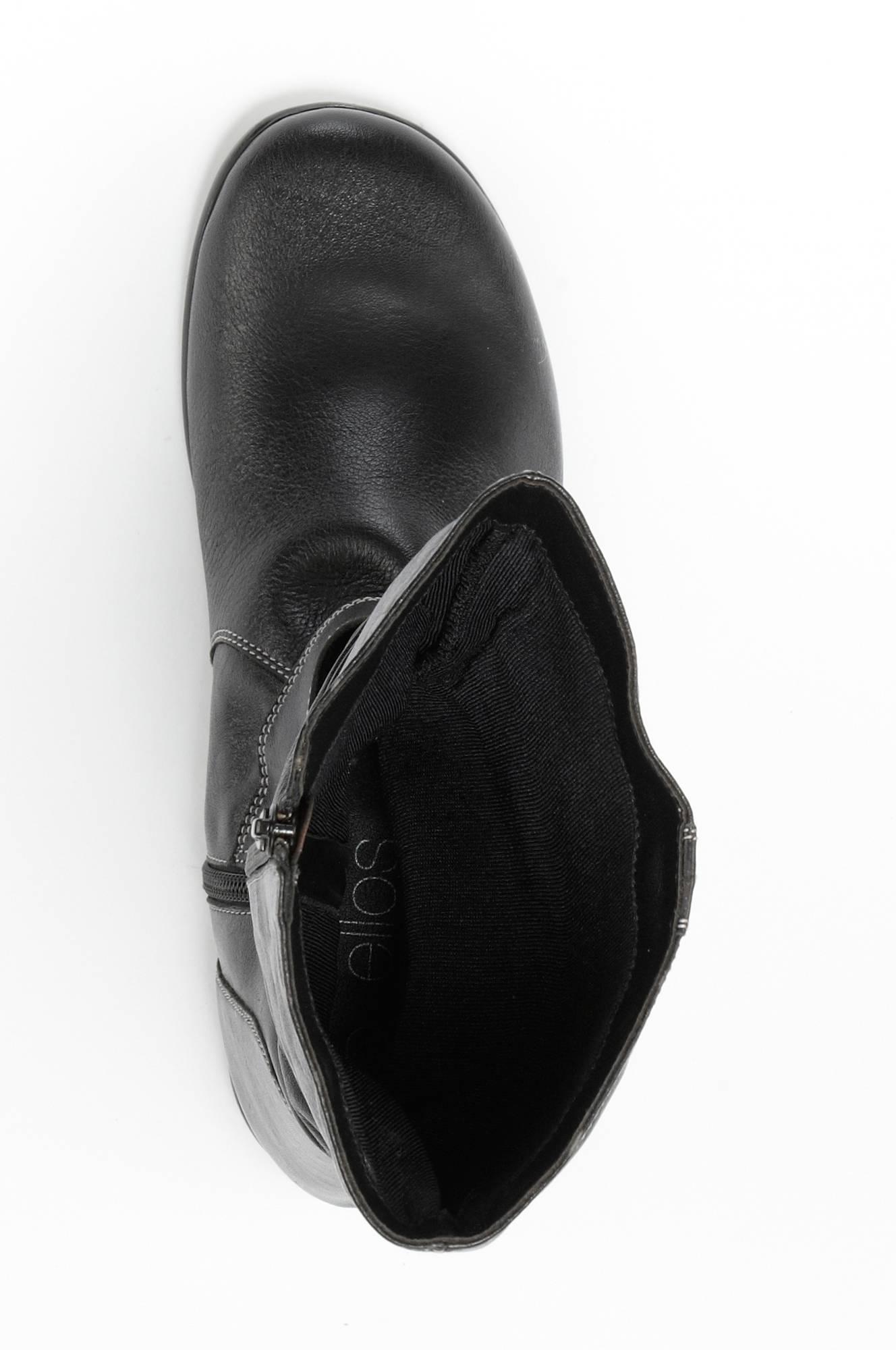 Ellos Shoes Stövel med veckat skaft Svart Stövlar Ellos.se