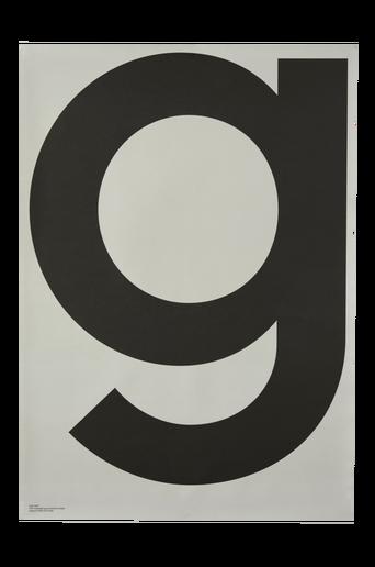 G Grey juliste 70x100 cm