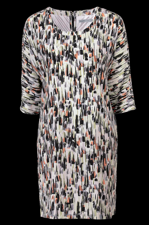 Kjole Notadress Soaked in Luxury Kjoler til Kvinder i Sort/hvid/abrikos