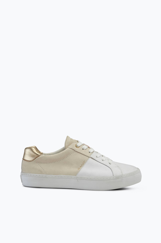 Sneakers Alice af skind og ruskind Gant Sneakers til Kvinder i Hvid