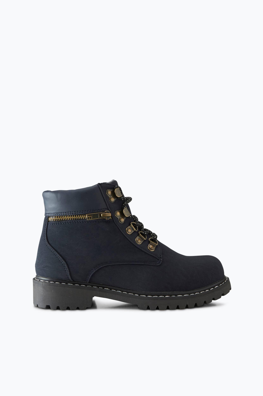 Støvle Emma Lace Up, varmt foret Ellos Boots & snørestøvler til Kvinder i Mørkeblå
