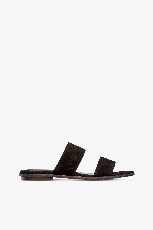 Sandal Natalia slip-in af sort ruskind Vagabond Sandaler & sandaler med hæl til Kvinder i Sort