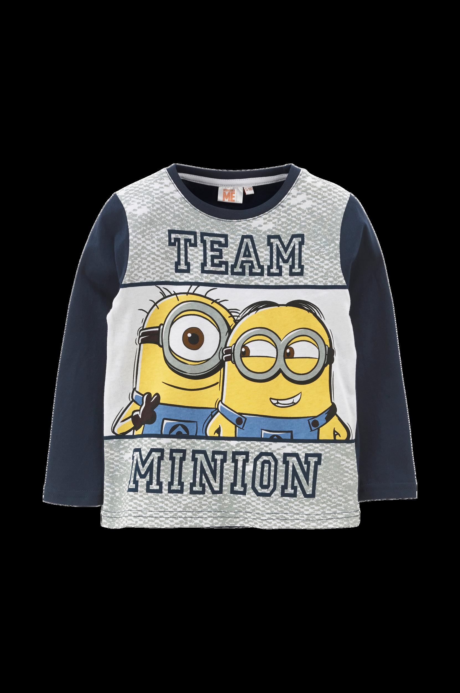 T-shirt Minions Despicable Me Minions T-shirts til Børn i Mørkeblå/hvid/grå