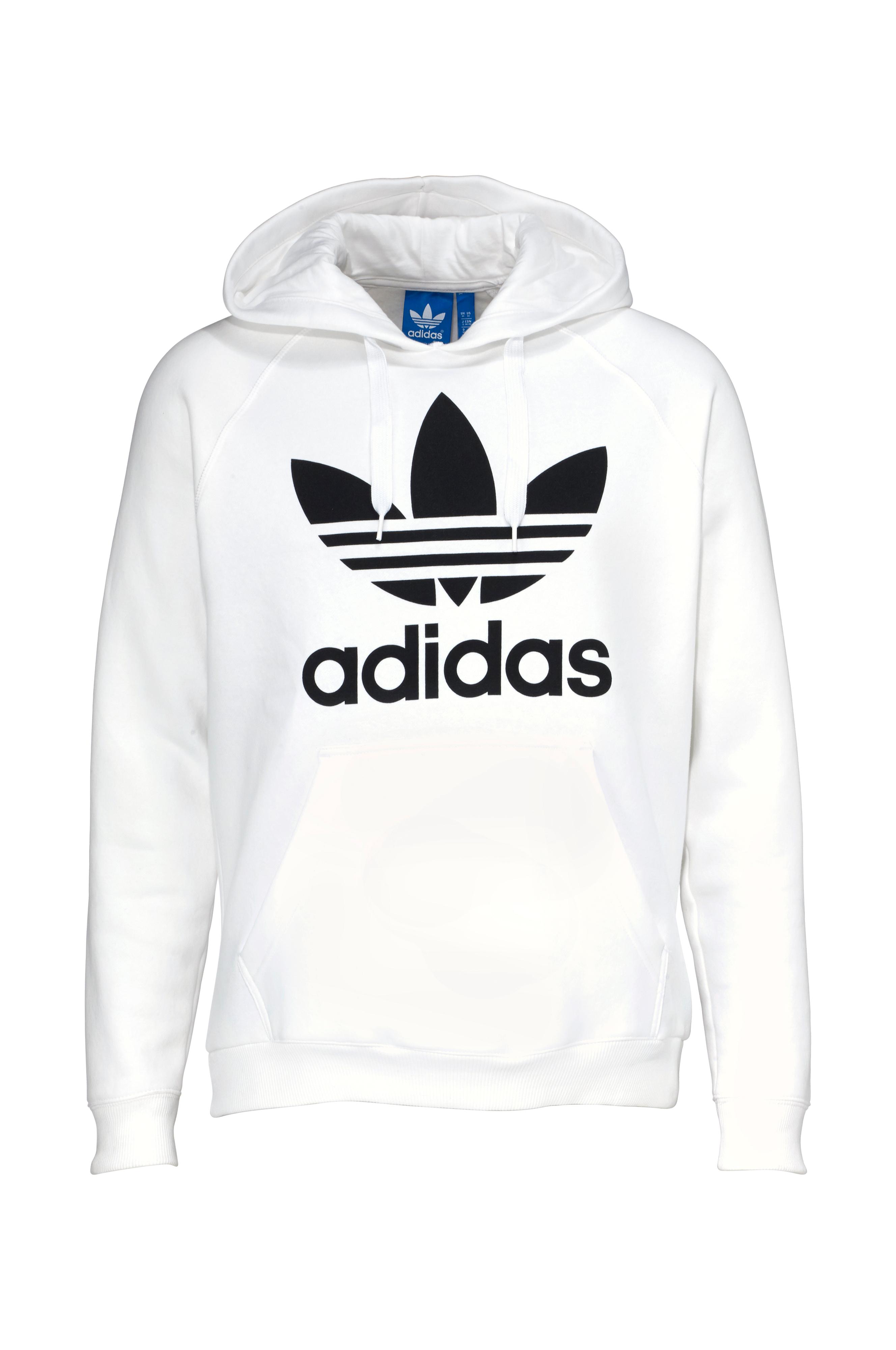 adidas Originals Sweatshirt Orig Trefoil Hood Hvit