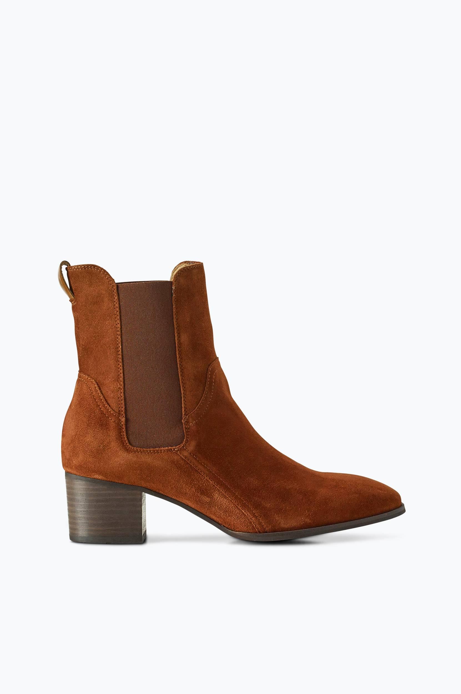 Chelsea-boots Sandra Gant Boots & snørestøvler til Kvinder i Cognacbrun