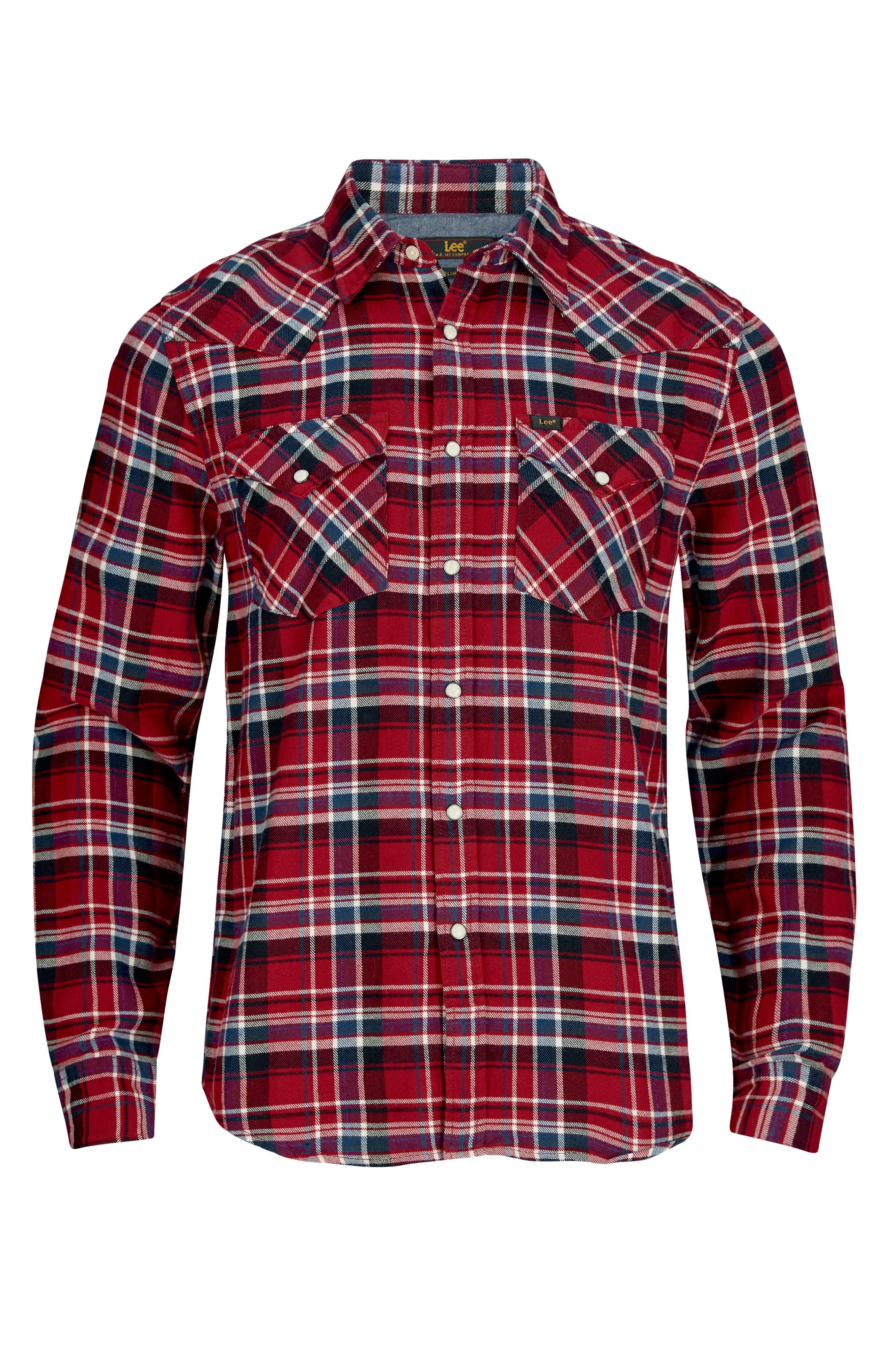 Lee Skjorte Western Rød Langermede skjorter til herre