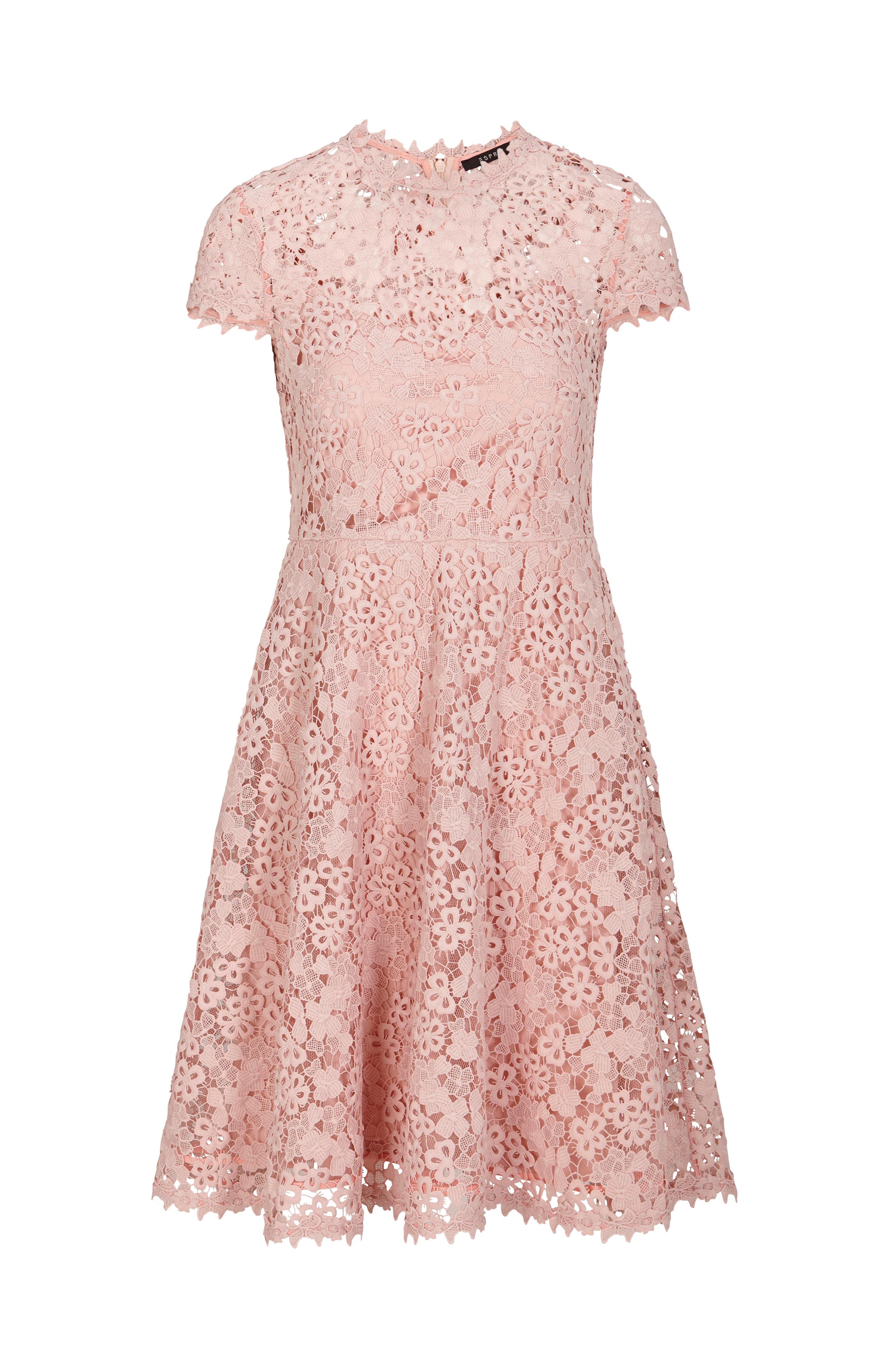 rosa spetsklänning dam