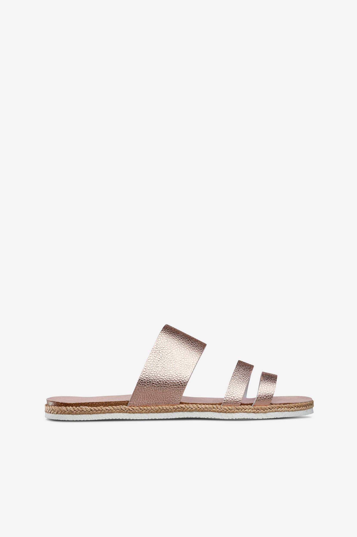 Sandal slip-in Esprit Sandaler & sandaler med hæl til Kvinder i Rosaguldfarvet