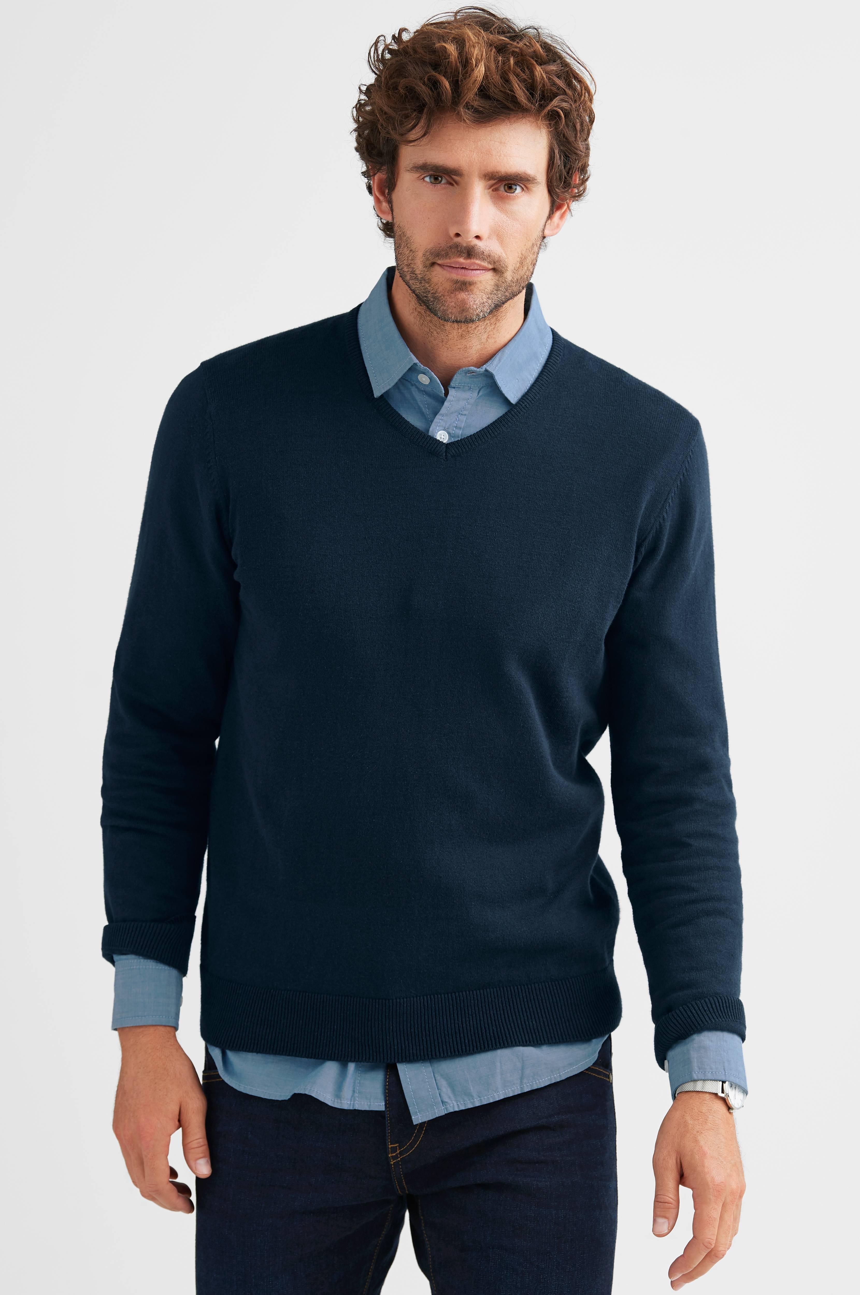 skjorta under tröja krage