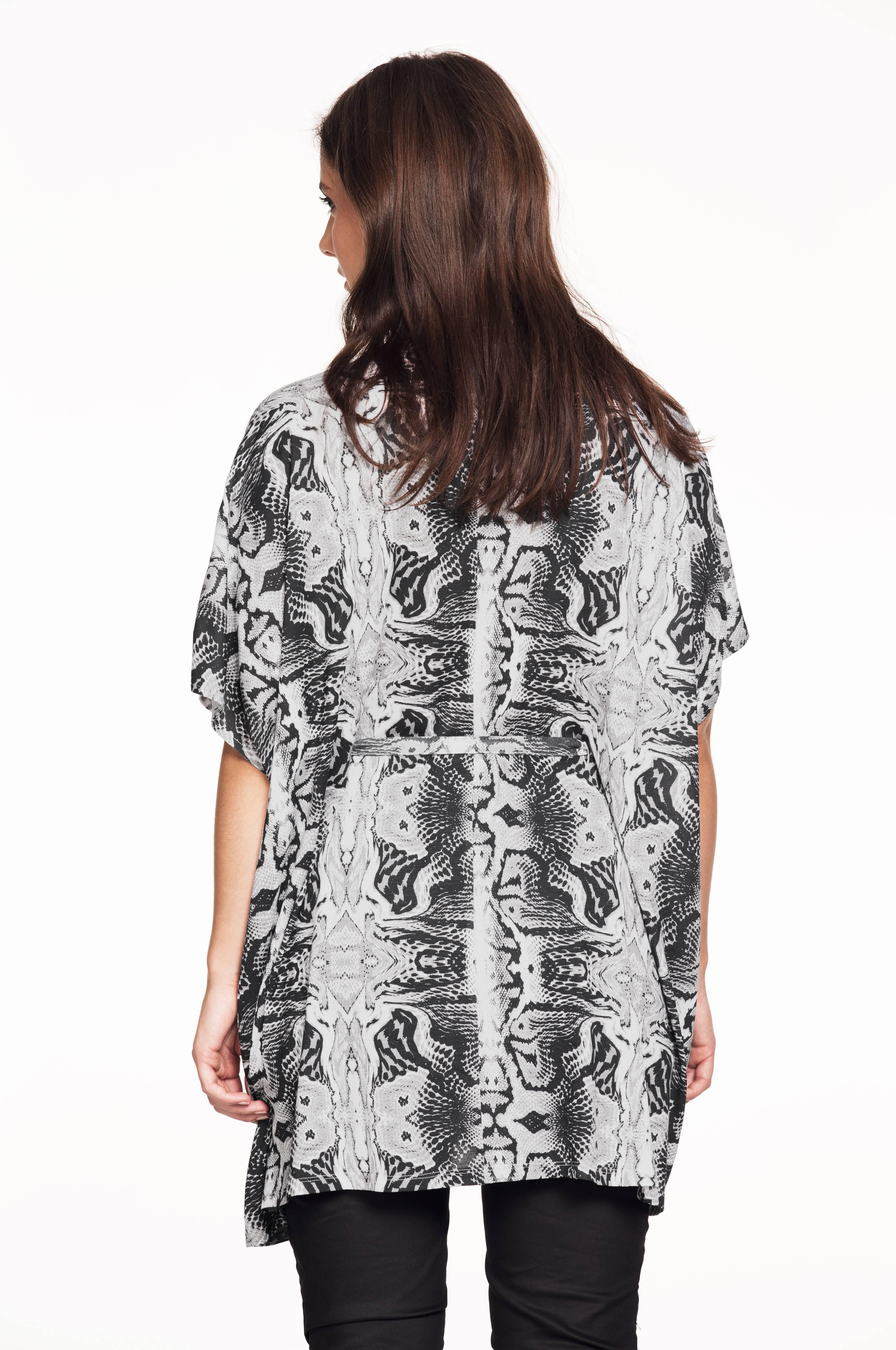 Ellos Plus collection Skjorte med knytebelte Svart Dame