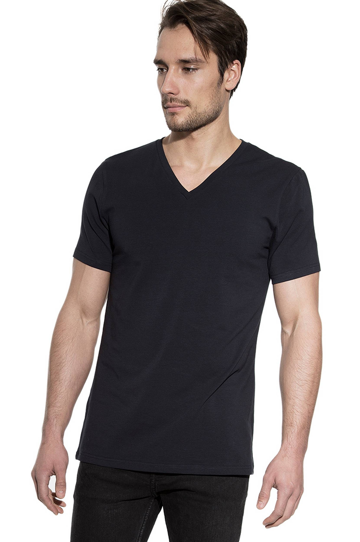 T-paita, V-pääntie, ekologista puuvillaa