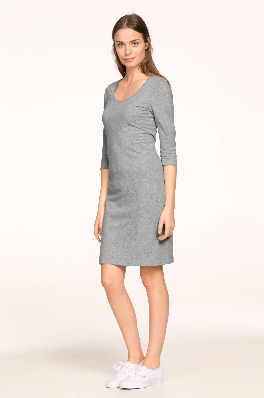 Kort kjole med 3/4-langt ærme Ellos Kjoler til Kvinder i Gråmeleret