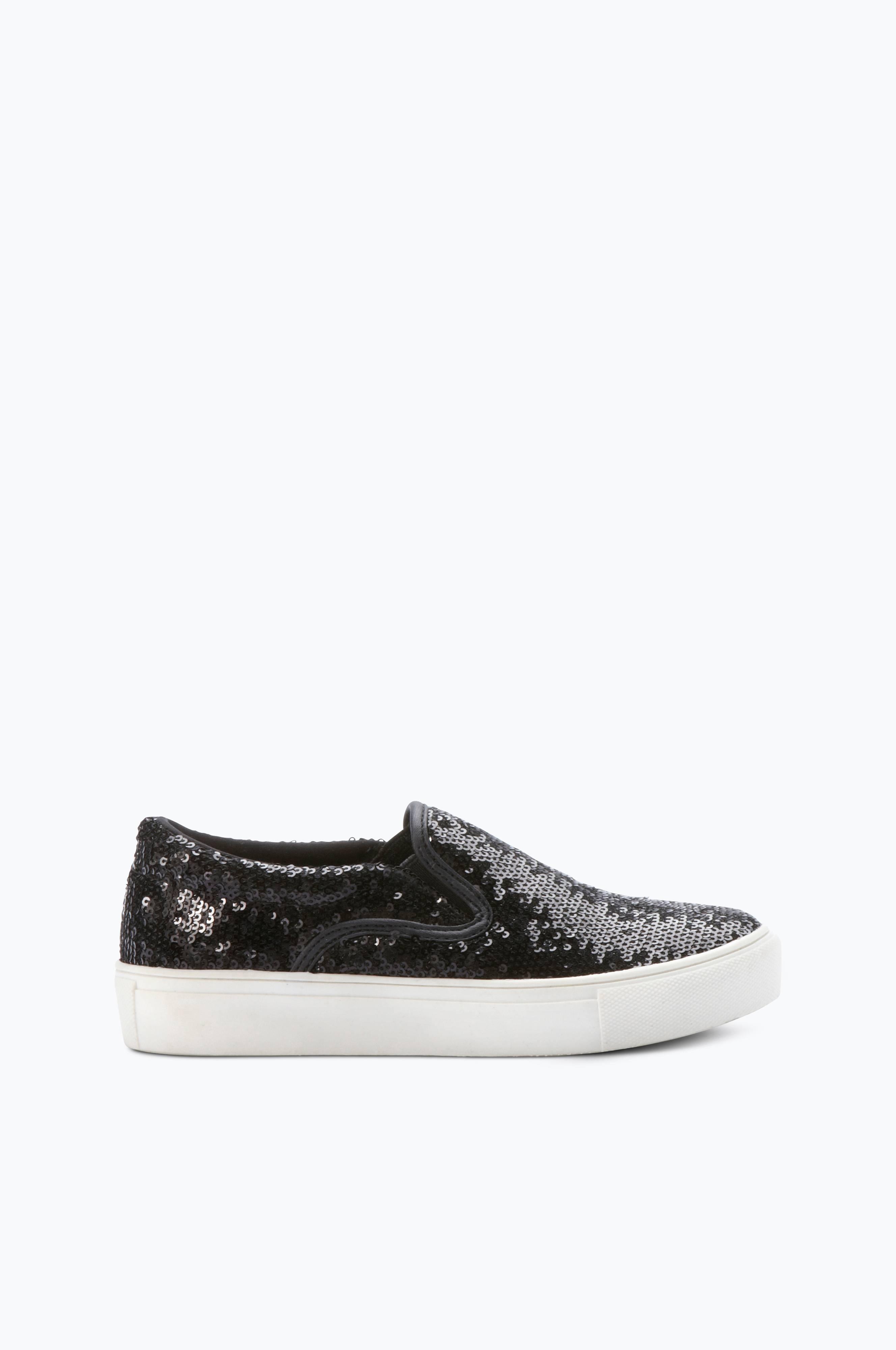 Ellos Shoes Sneakers slip on med glitter Svart Barn