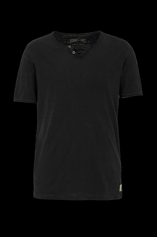 T-shirt jjvGalvin SS Split Neck Jack & Jones T-shirts & tanktoppe til Mænd i Mørkegrå