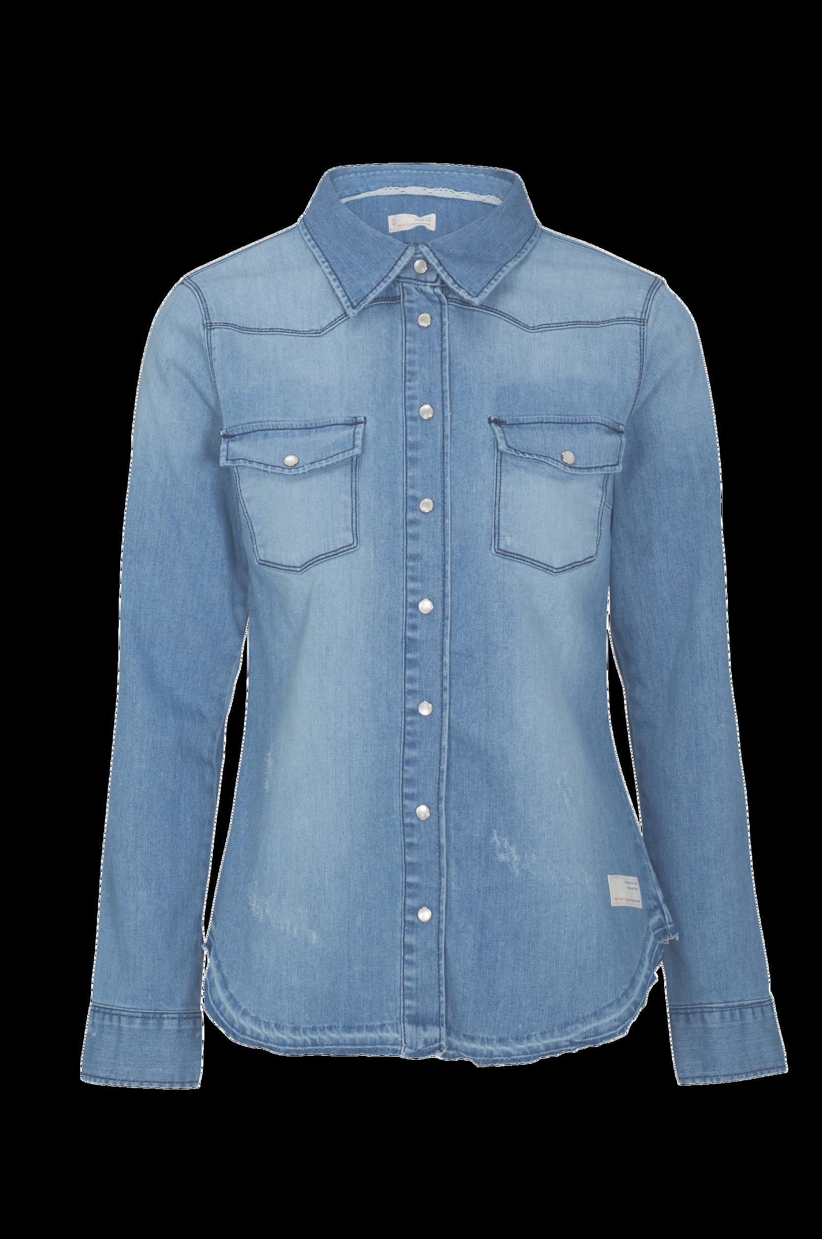 Denimskjorte Dress Up Odd Molly Skjorter & bluser til Kvinder i Mellemblå