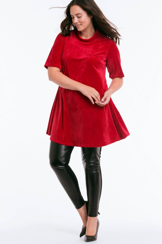 Tunika af velour Ellos Skjorter & bluser til Kvinder i Rød