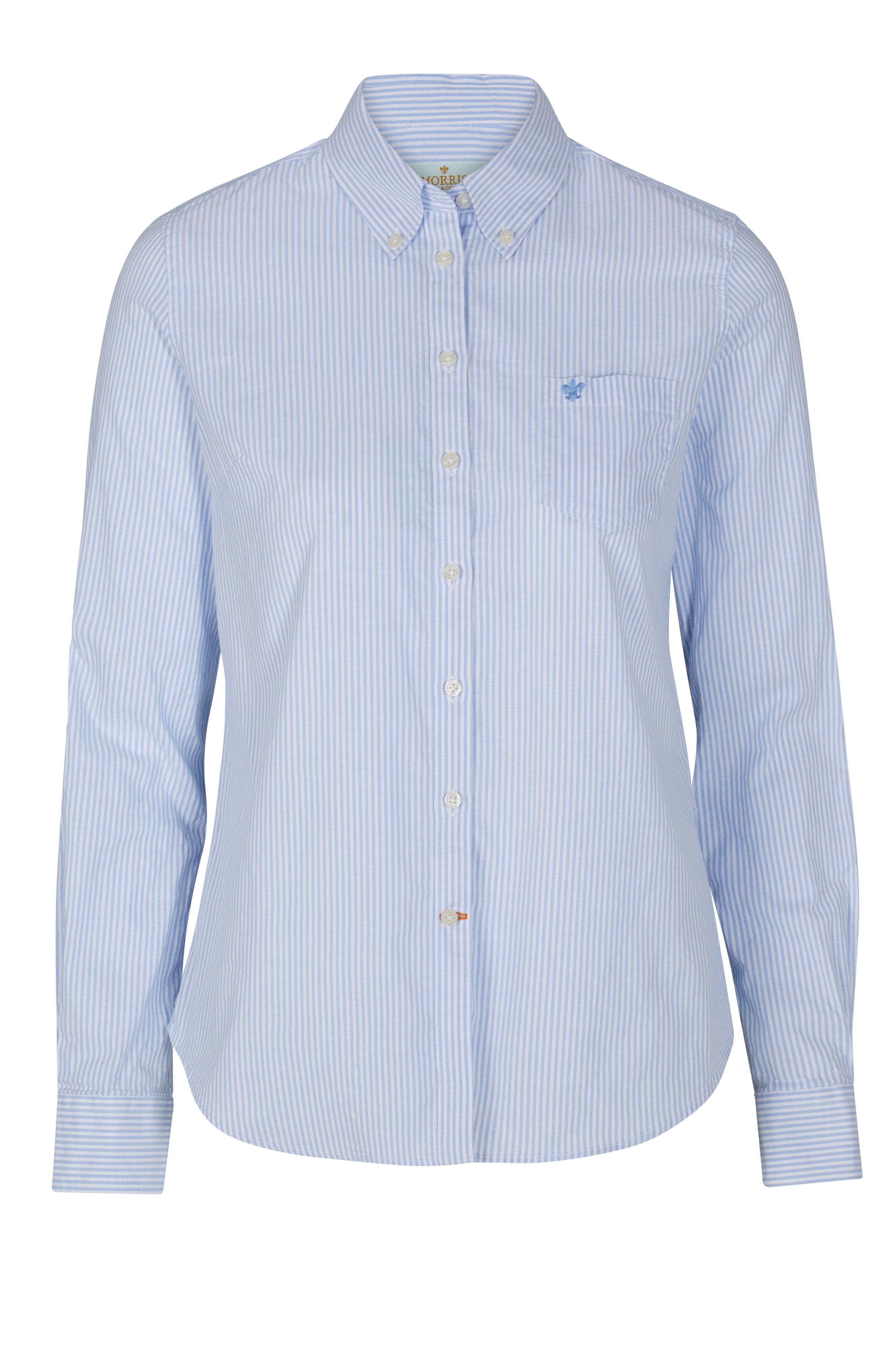 Morris Skjorta Classic Oxford Stripe - Blå - Dam - Ellos.se 06ba7f4cac444