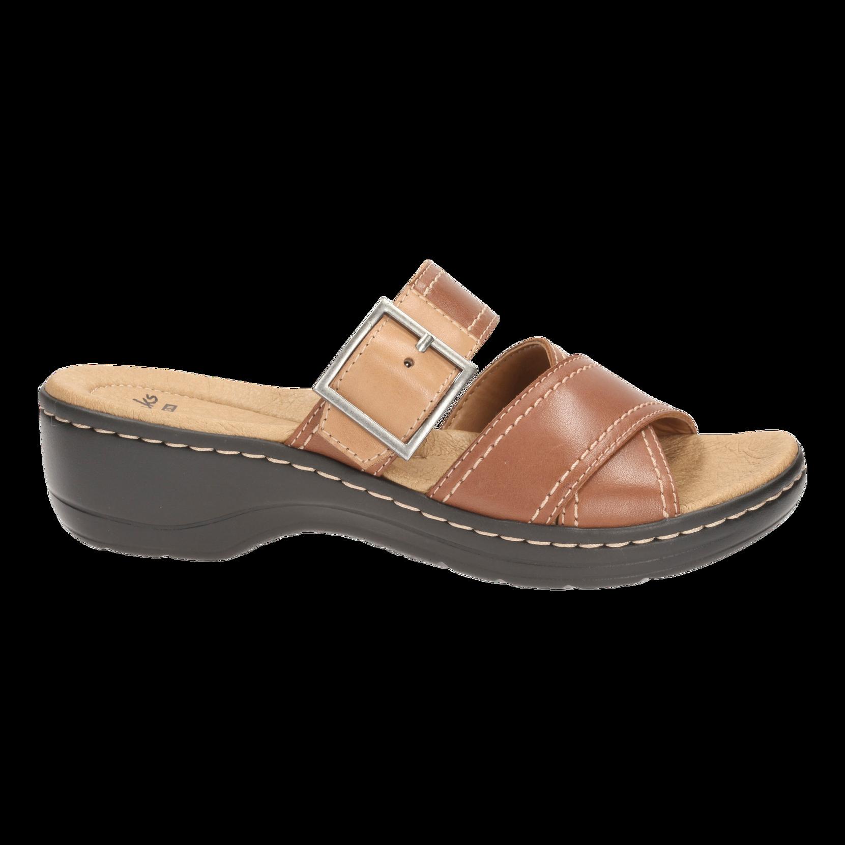 Sandaler Hayla Hum Clarks Sandaler & sandaler med hæl til Kvinder i Cognacbrun